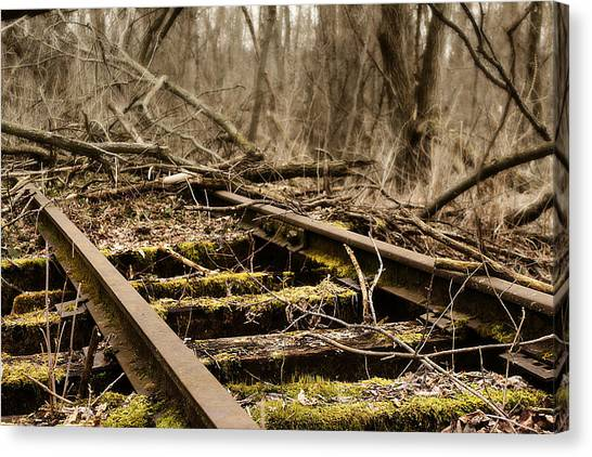 Canvas Print featuring the photograph Abandoned Railroad 1 by Scott Hovind