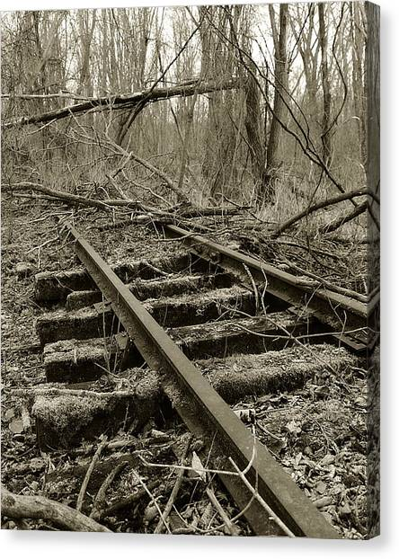 Canvas Print featuring the photograph Abandoned Railroad 2 by Scott Hovind
