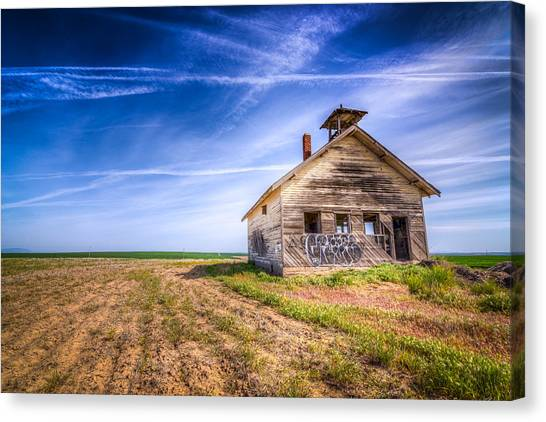 Abandoned School Canvas Print - Abandoned School House by Spencer McDonald