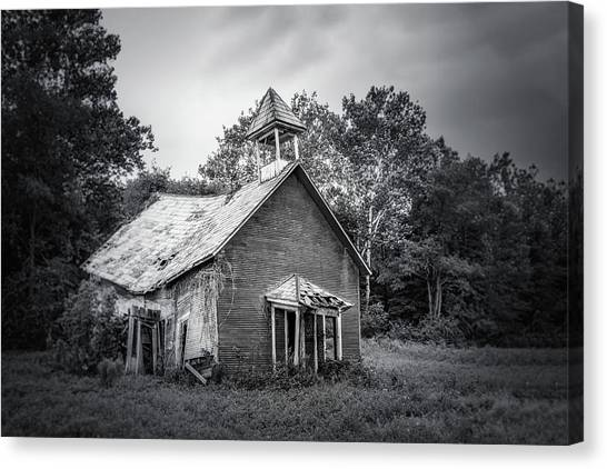 Dilapidated Canvas Print - Abandoned Schoolhouse by Tom Mc Nemar
