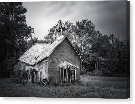 Education Canvas Print - Abandoned Schoolhouse by Tom Mc Nemar