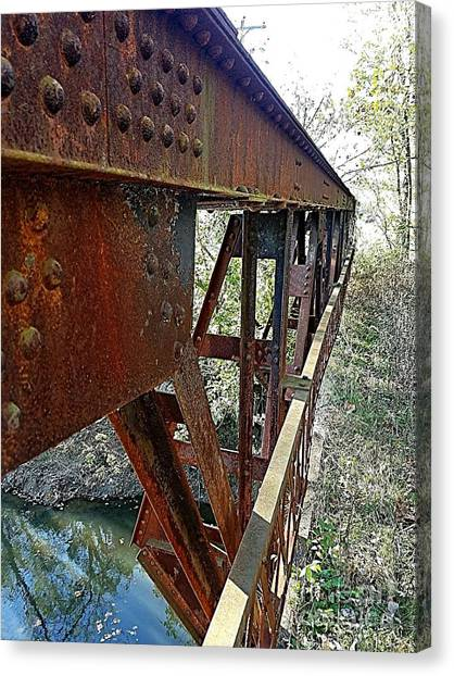Abandoned Steel Bridge Nashville Indiana Canvas Print