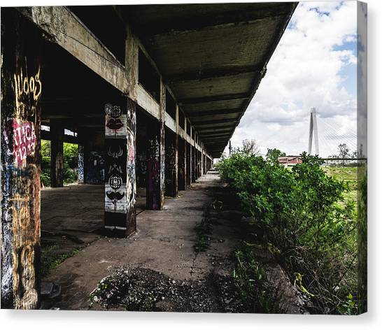 Abandoned Structure - Laclede's Landing Canvas Print by Dylan Murphy