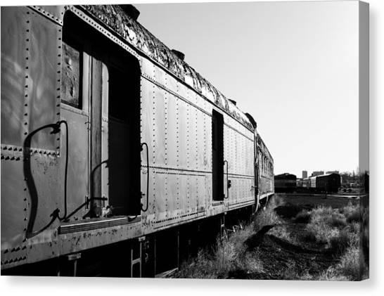 Abandoned Train Cars Canvas Print
