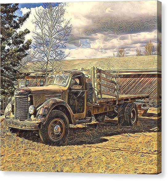 Abandoned Vehicle Canol Project 1945 Canvas Print