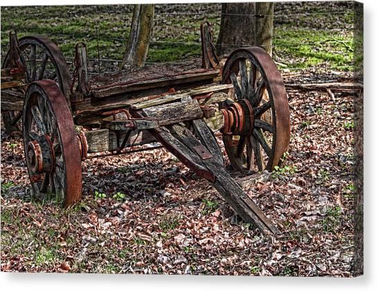 Rural Canvas Print - Abandoned Wagon by Tom Mc Nemar