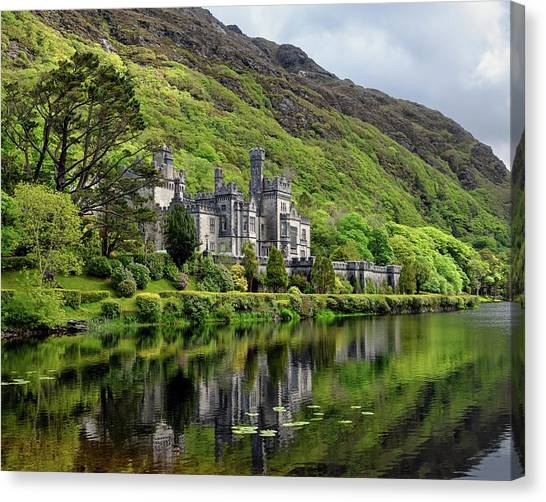 Abbey By The Lake Canvas Print