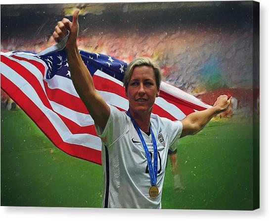 Landon Donovan Canvas Print - Abby Wambach Us Soccer by Semih Yurdabak