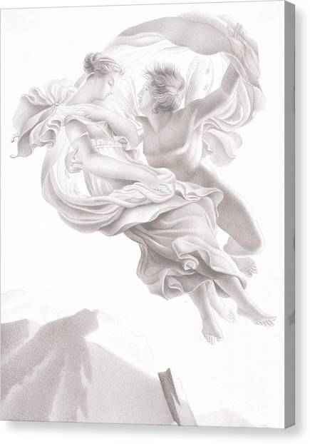 Abduction Canvas Print - Abduction Of Psyche by Therese Macdonale