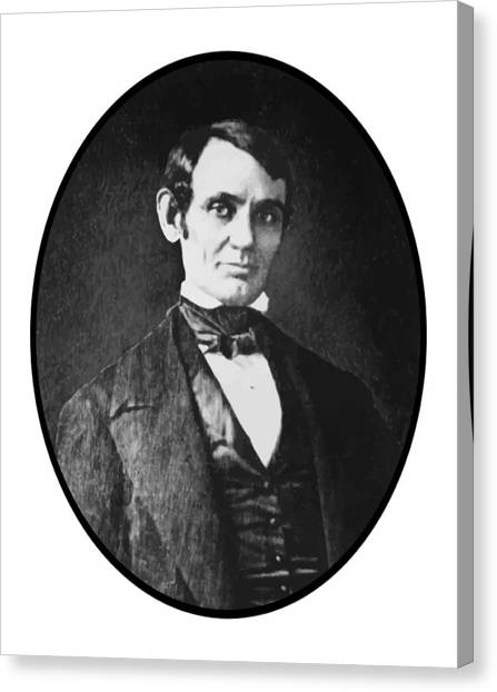 Lincoln Canvas Print - Abe Lincoln As A Young Man  by War Is Hell Store
