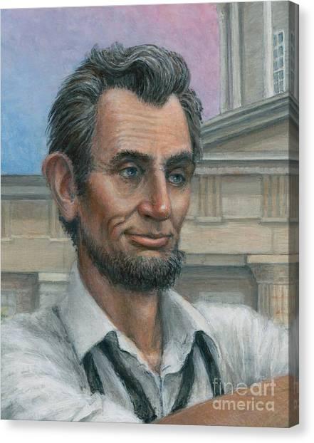 Abe's 1st Selfie - Detail Canvas Print