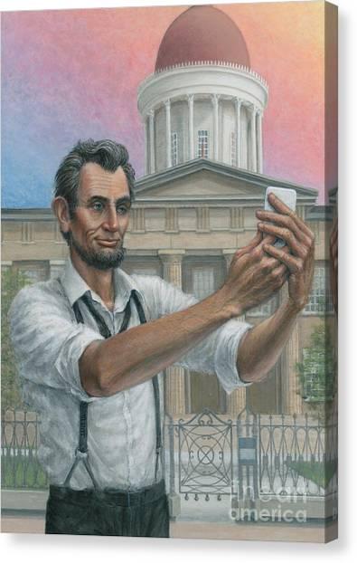 Abe's 1st Selfie Canvas Print
