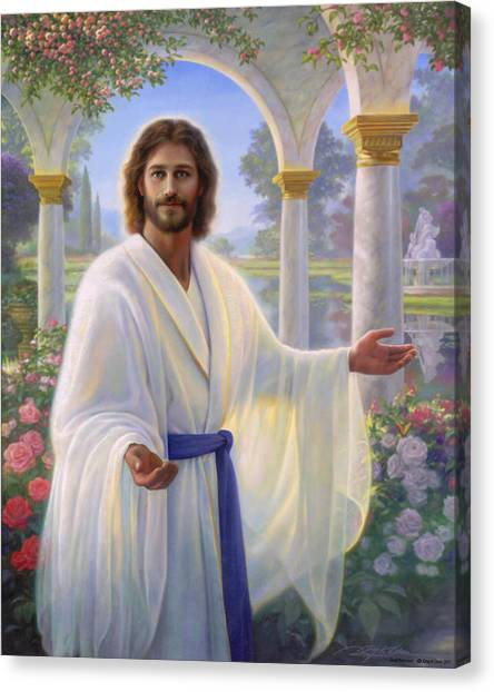 Heaven Canvas Print - Abide With Me by Greg Olsen