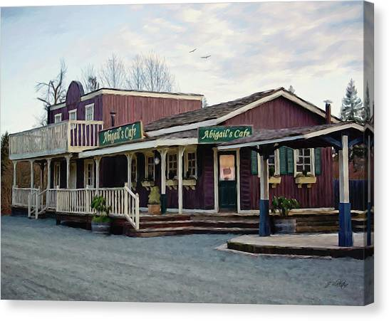Abigail's Cafe - Hope Valley Art Canvas Print