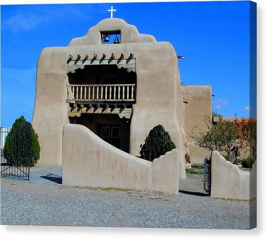 Canvas Print featuring the photograph Abiquiu Church Number 1 by Joseph R Luciano