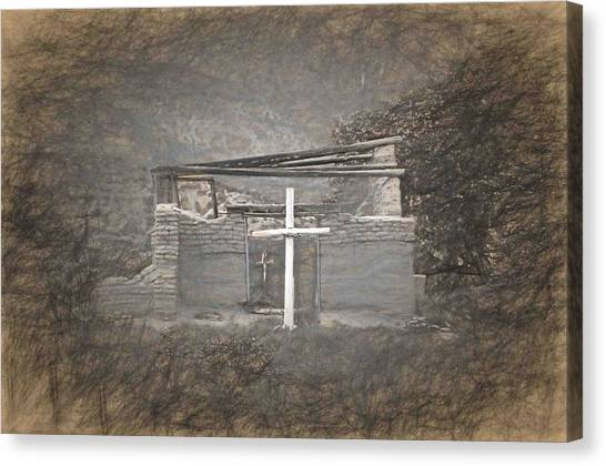Abiquiu Nm Church Ruin Canvas Print