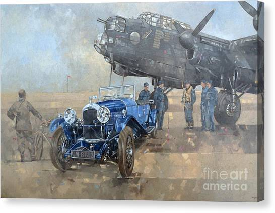 Car Canvas Print - Able Mable And The Blue Lagonda  by Peter Miller