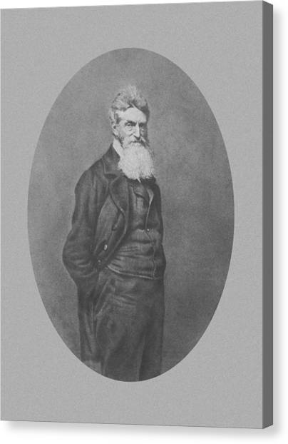 Slavery Canvas Print - Abolitionist John Brown by War Is Hell Store