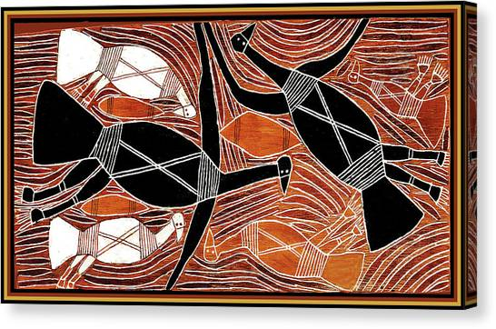Aboriginal Birds Canvas Print