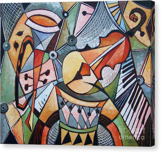 About Music N22 Canvas Print by Elizabeth Elkin