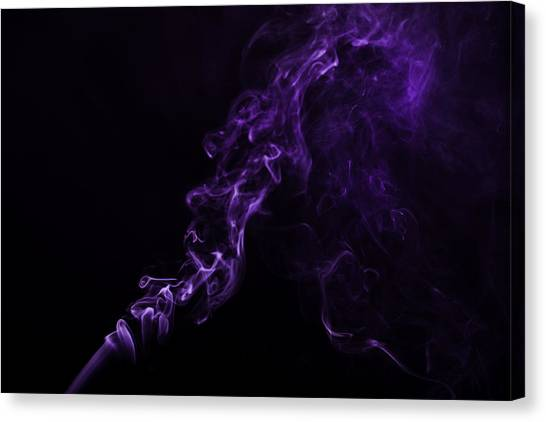 About Purple Canvas Print