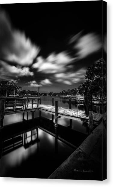 Bayous Canvas Print - About The Pier by Marvin Spates