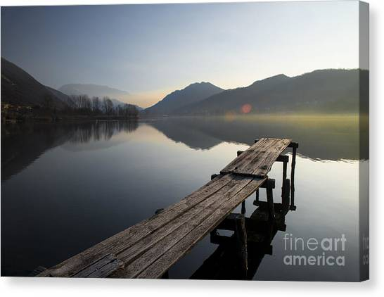 Dock Canvas Print - About To Rise by Yuri San