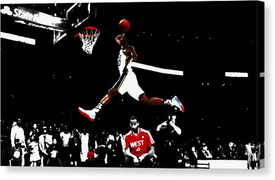 La Clippers Canvas Print - Above And Beyond by Brian Reaves