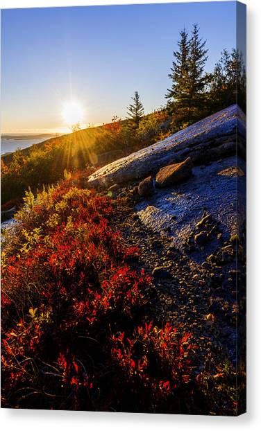 Bar Canvas Print - Above Bar Harbor by Chad Dutson