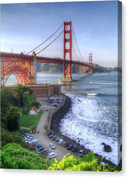 Above Fort Point Canvas Print by Ken Osborn