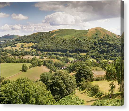 Above Little Stretton Canvas Print by Richard Greswell