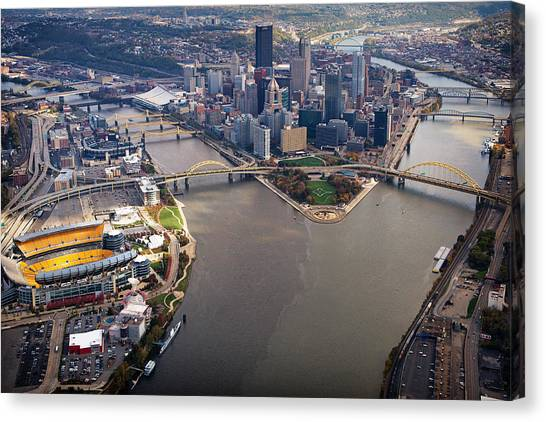 Above Pittsburgh In  Color  Canvas Print
