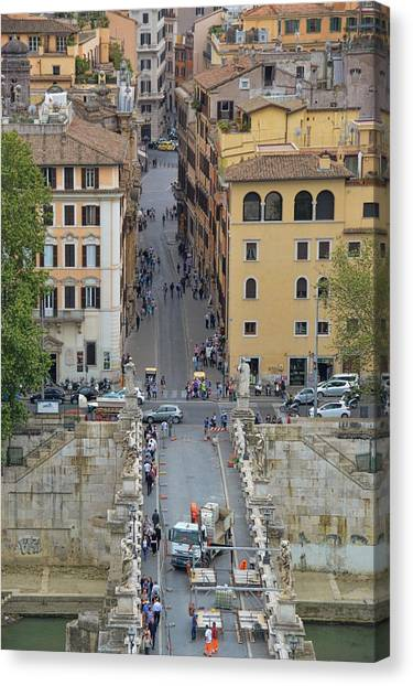 Above Ponte Sant'angelo Canvas Print by JAMART Photography