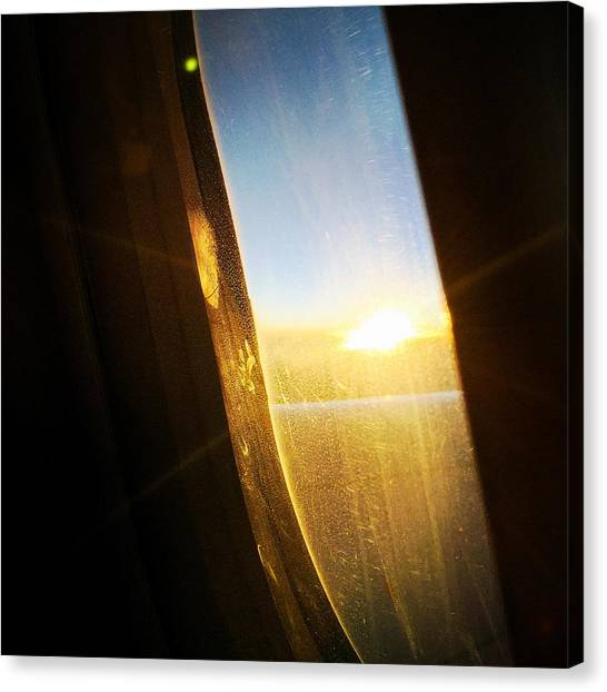 Sunrises Canvas Print - Above The Clouds 05 - Sun In The Window by Matthias Hauser