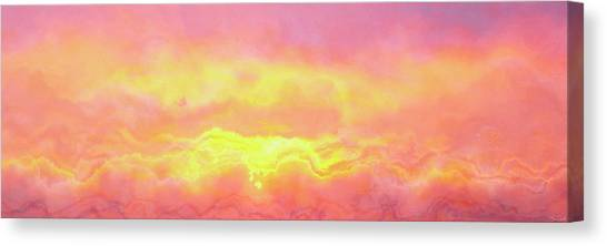 Above The Clouds - Abstract Art Canvas Print