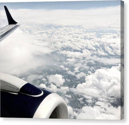 Jetblue Canvas Print - Above The Clouds by Jane Merrit