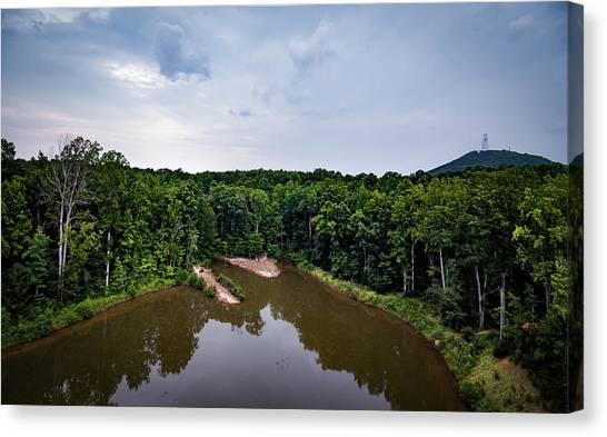Above The Lake Canvas Print