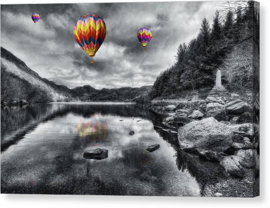 Mountain View Canvas Print - Above The Lake by Ian Mitchell