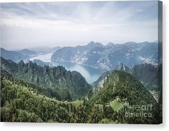 Altitude Canvas Print - Above The Silver Lake by Evelina Kremsdorf