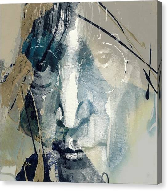 Yoko Ono Canvas Print - Above Us Only Sky  by Paul Lovering
