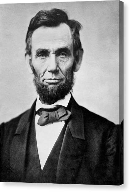 U. S. Presidents Canvas Print - Abraham Lincoln -  Portrait by International  Images