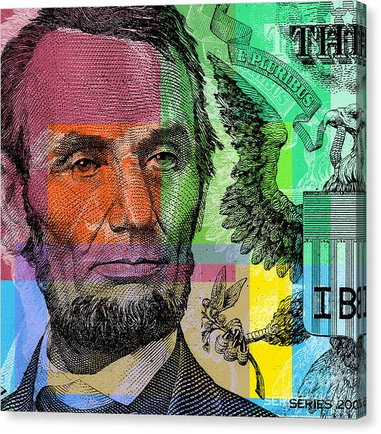 Abraham Lincoln - $5 Bill Canvas Print
