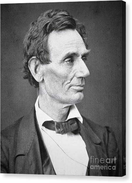 Slavery Canvas Print - Abraham Lincoln by Alexander Hesler