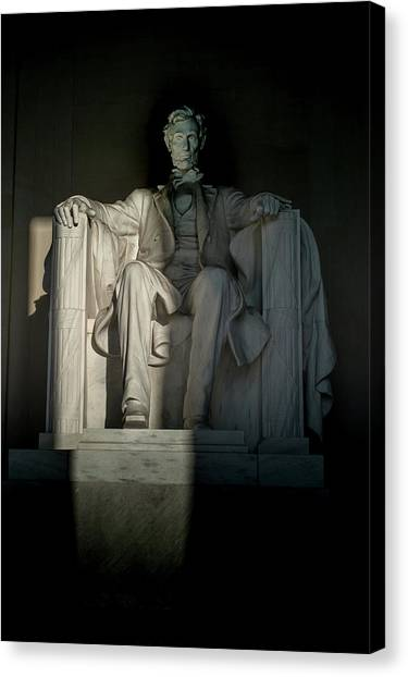 Abraham Lincoln And The Current State Of Affairs Canvas Print