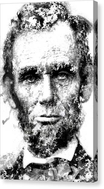 Us Civil War Canvas Print - Abraham Lincoln For Eternity by Daniel Hagerman
