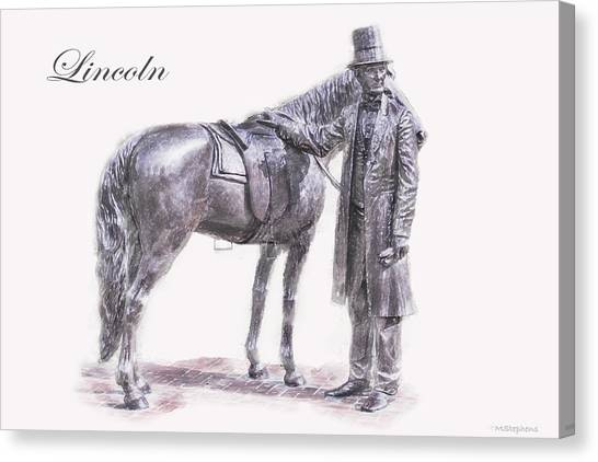 Us Civil War Canvas Print - Abraham Lincoln by Mark Stephens