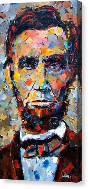 President Canvas Print - Abraham Lincoln Portrait by Debra Hurd