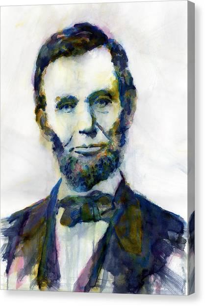 Abraham Lincoln Canvas Print - Abraham Lincoln Portrait Study 2 by Hailey E Herrera