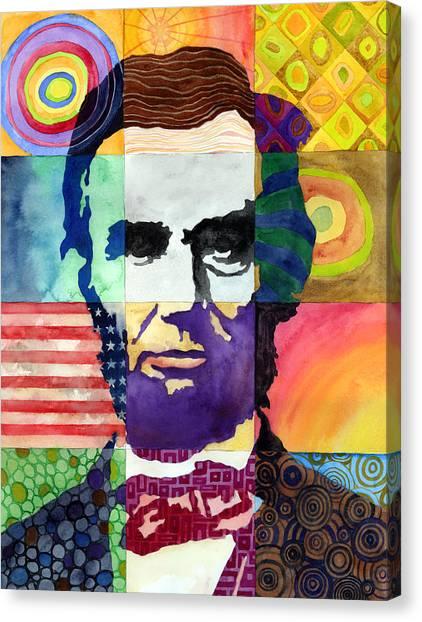 Abraham Lincoln Canvas Print - Abraham Lincoln Portrait Study by Hailey E Herrera