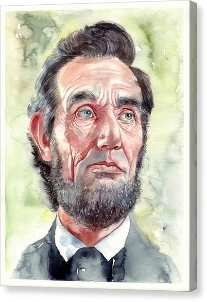 Abraham Lincoln Canvas Print - Abraham Lincoln Portrait by Suzann's Art